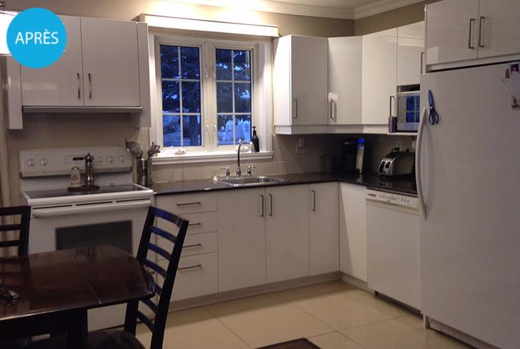 R alisations co cuisine design avant apr s refacing armoires cuisine for Marchand de cuisine